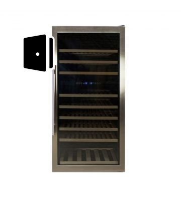 Rvs deur voor wijnkast