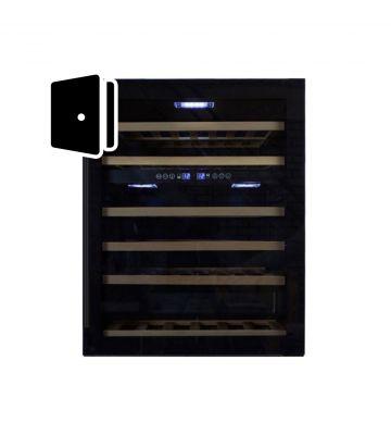 Wijnklimaatkast deur volledig zwart