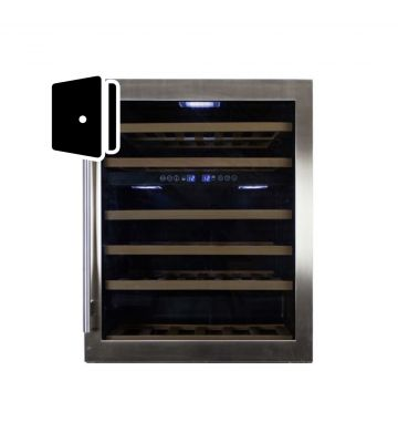 RVS glazen deur wijnklimaatkast