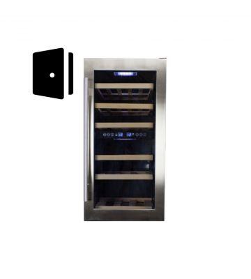 RVS deur compacte wijnklimaatkast