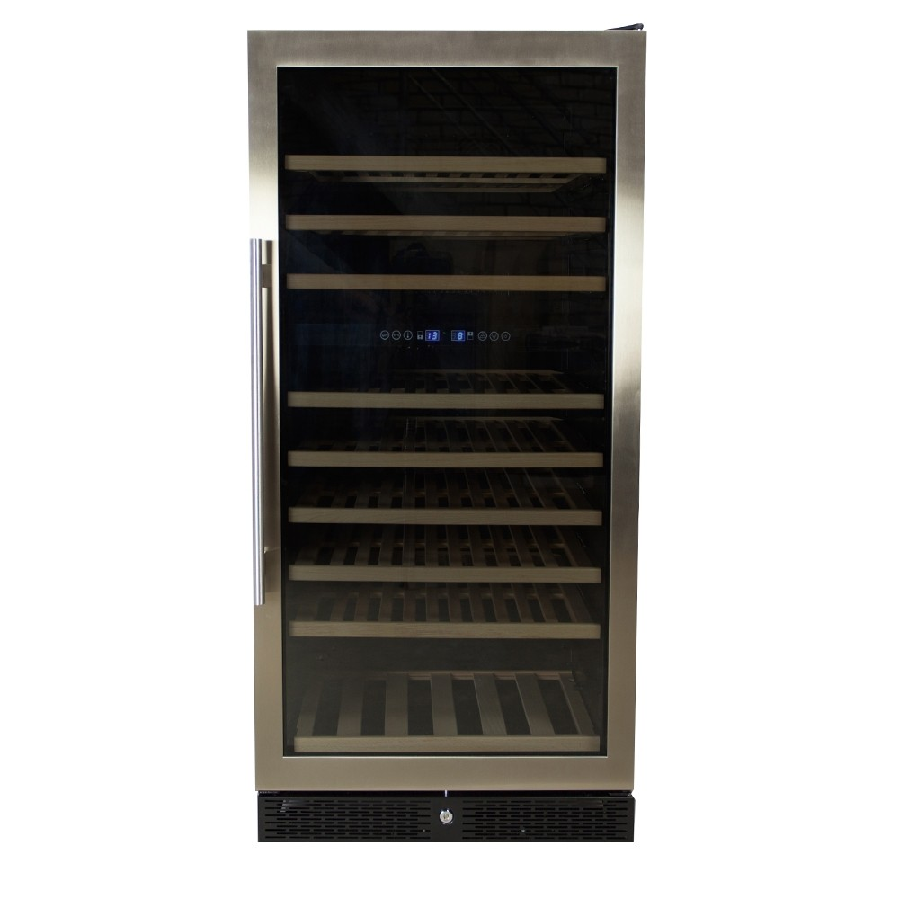 Afbeelding van Wijnklimaatkast Premium met RVS glazen deur - 110 Flessen