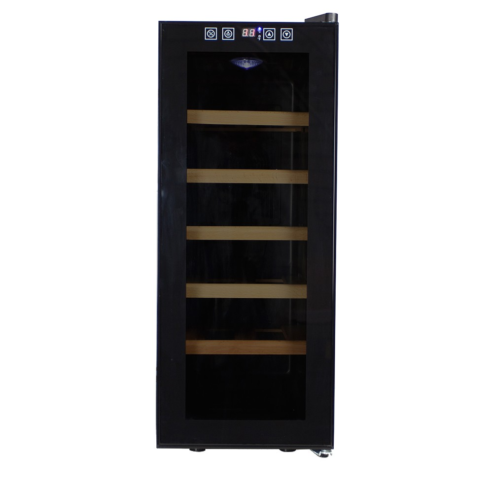 Afbeelding van Wijnklimaatkast Compact met touch screen glazen deur - 12 Flessen