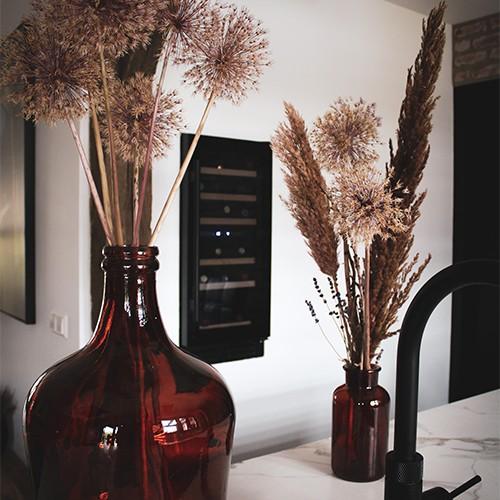 Wijnkast in de muur
